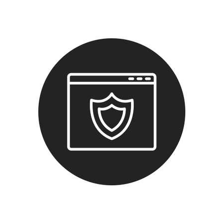 browser protection shieldline icon, vector simple illustration Ilustração