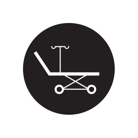 medical stretcher icon, vector simple illustration
