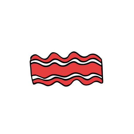 bacon doodle color icon color illustration