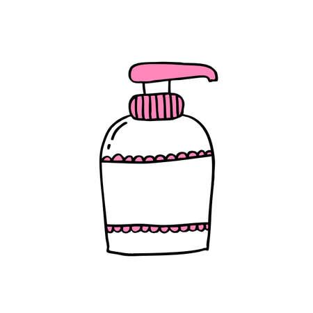 soap for intimate hygiene doodle icon color illustration Ilustração Vetorial