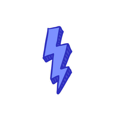 lightning doodle color icon color illustration