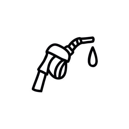 fuel filling pistol doodle icon, vector illustration