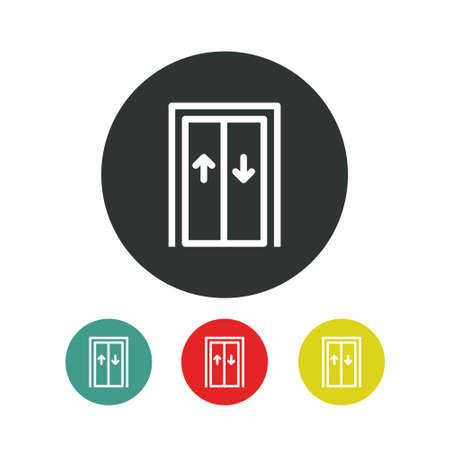 elevator line icon, vector simple illustration