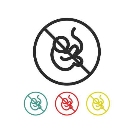 abortion line icon, vector simple illustration