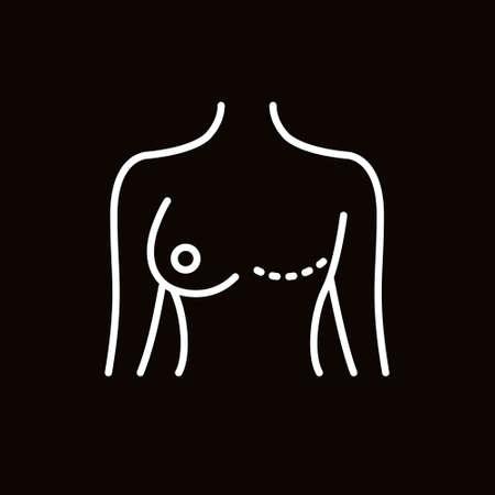 mastectomy line icon, vector simple illustration Ilustrace