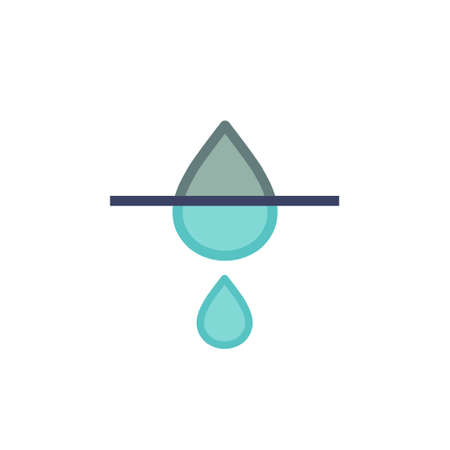 water filtration flat icon, vector color illustration  イラスト・ベクター素材