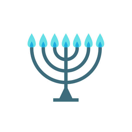 menorah flat icon, vector color illustration 版權商用圖片 - 147945673