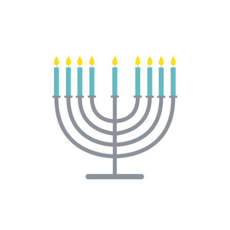 menorah flat icon, vector color illustration 版權商用圖片 - 147945685