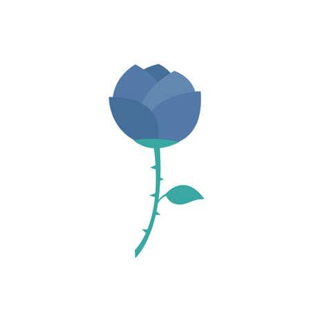 rose vector color icon, vector color illistration