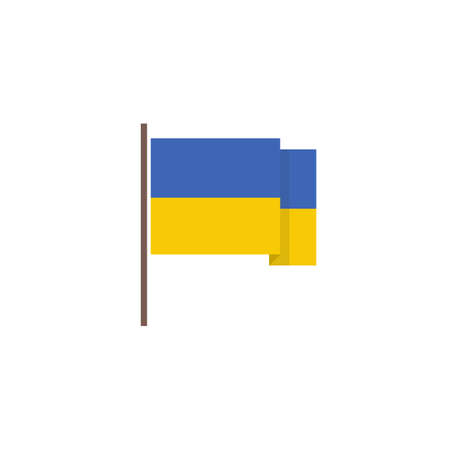 flag of Ukraine vector icon, vector color illistration