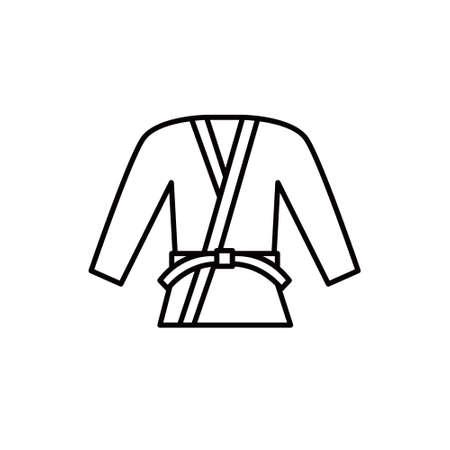 martial arts suit line icon, vector simple illustration