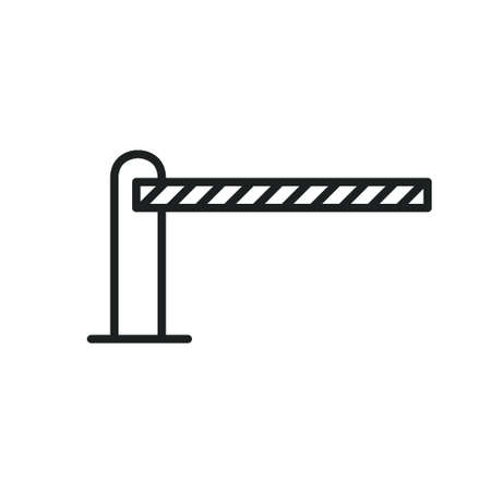 closed barrier line icon, vector simple illustration