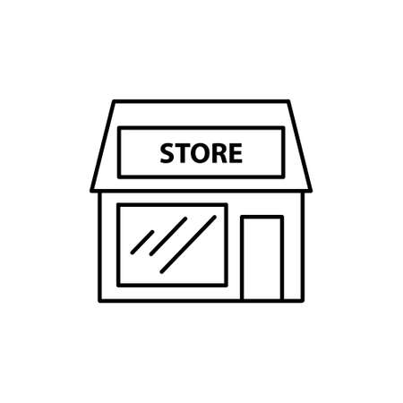 store line icon, vector simple illustration Ilustracja