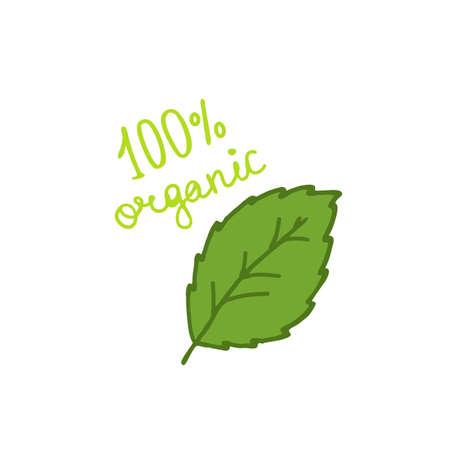 stevia doodle icon, vector color illustration
