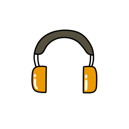 protective ear muffs doodle icon, vector color illustration Vektorové ilustrace