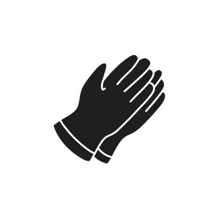 safety gloves doodle icon, vector illustration