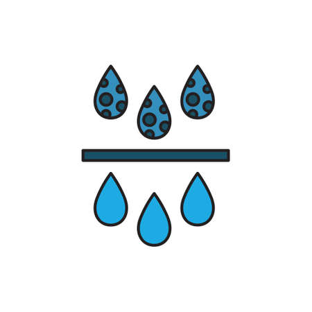 water filter flat icon, vector illustration