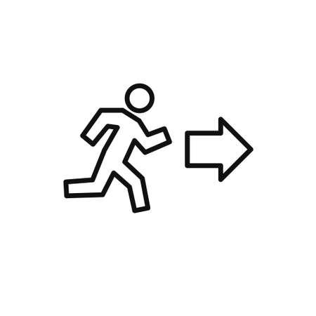 exit line icon, vector illustration Illustration