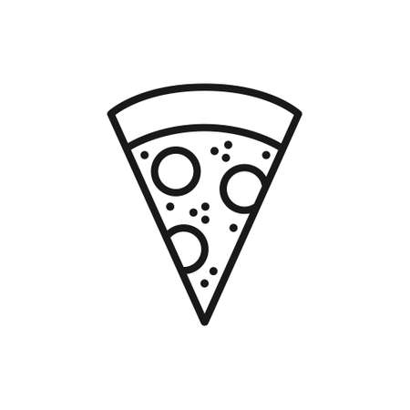 pizza line icon, vector illustration