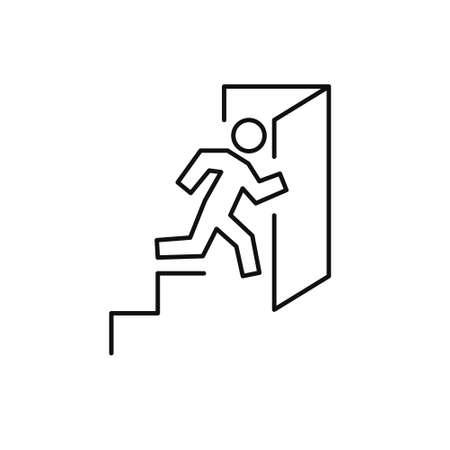 exit line icon, vector illustration Vector Illustratie
