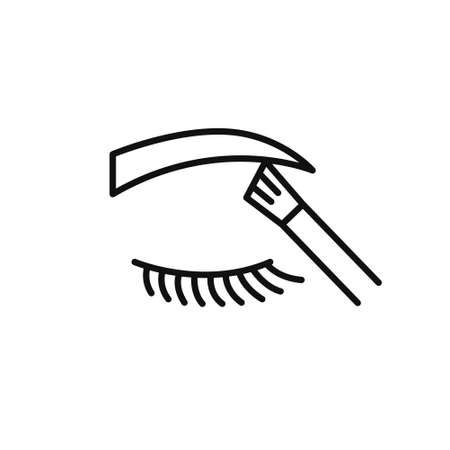 eyebrow contour correction line icon, vector illustration