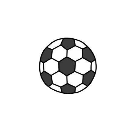 soccer ball doodle icon, vector illustration