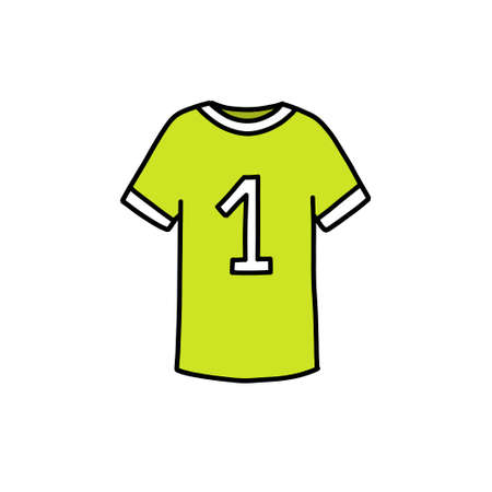 soccer player uniform doodle icon, vector illustration Illustration