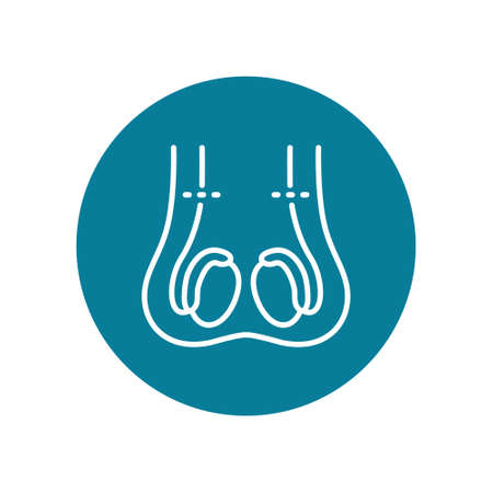 vasectomy flat icon, vector illustration Stock Illustratie