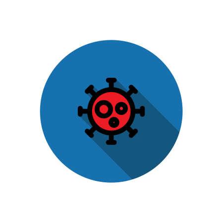 virus flat icon, vector illustration Vector Illustratie