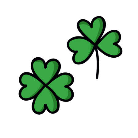 clover doodle icon, vector illustration
