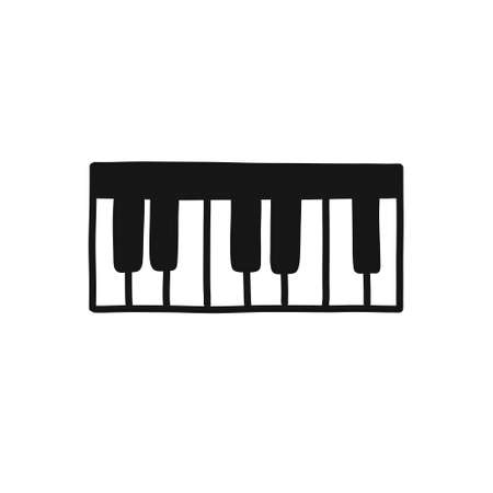 musical keyboard synthesizer doodle icon, vector illustration Stock fotó - 150516163