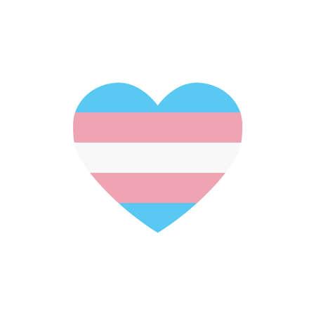 transgender flag heart, LGBTQ community flag, vector illustration