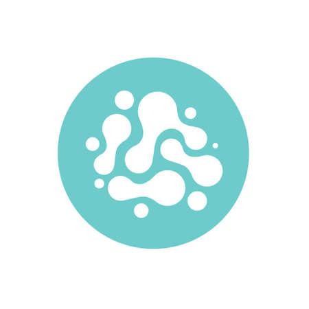 probiotics flat icon, vector illustration