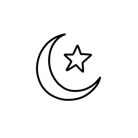 symbol of islam doodle icon, vector illustration