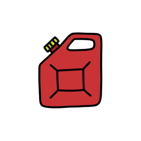 canister doodle icon, vector illustration