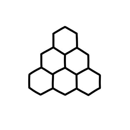 honeycomb doodle icon illustration Ilustrace
