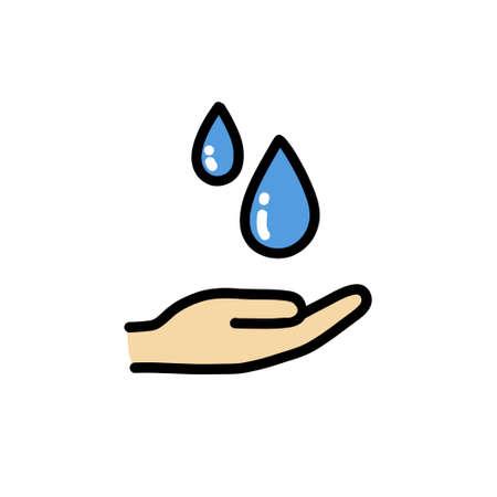 hand washing doodle icon illustration