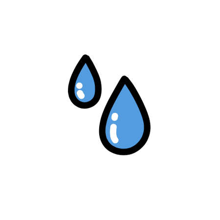 water drops doodle icon, vector illustration