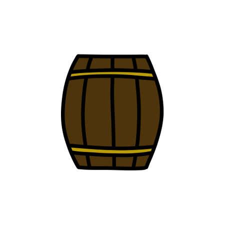 barrel doodle icon illustration