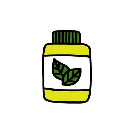 alternative natural medicine doodle icon illustration Stok Fotoğraf - 151014301