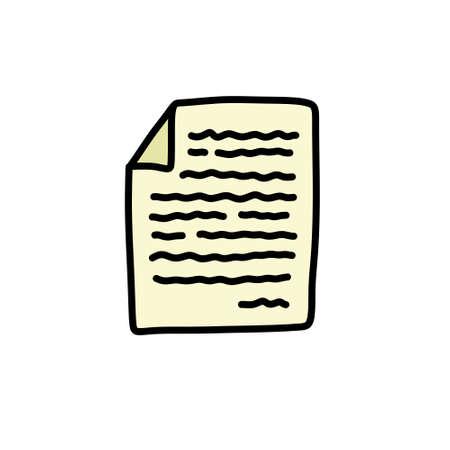 document doodle icon illustration Çizim