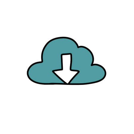 internet cloud doodle icon illustration