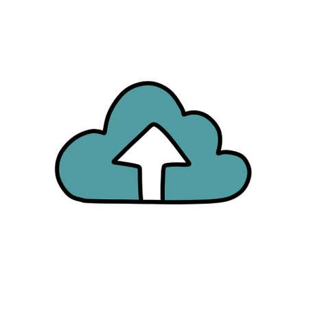 internet cloud doodle icon illustration Stok Fotoğraf - 151016177