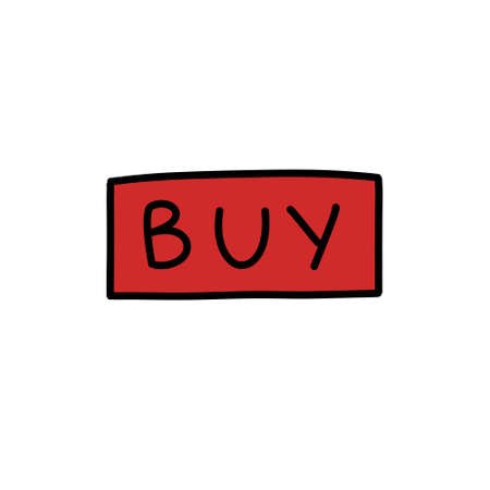 buy sign doodle icon illustration