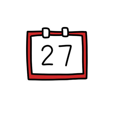 calendar doodle icon, vector illustration Stok Fotoğraf - 151012728