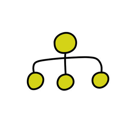 management symbol doodle icon, vector illustration Çizim