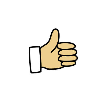thumbs up doodle icon illustration 向量圖像