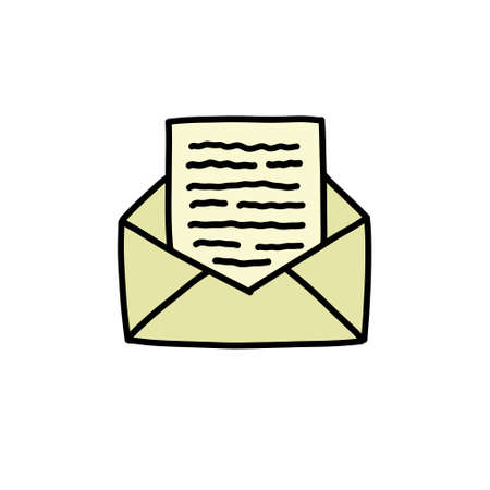 mail doodle icon  illustration 向量圖像
