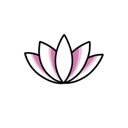 lotus flower doodle icon, vector illustration Stok Fotoğraf - 151097085
