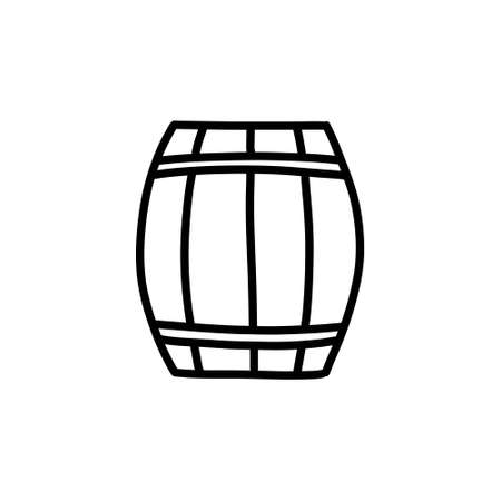 barrel doodle icon, vector illustration Vettoriali